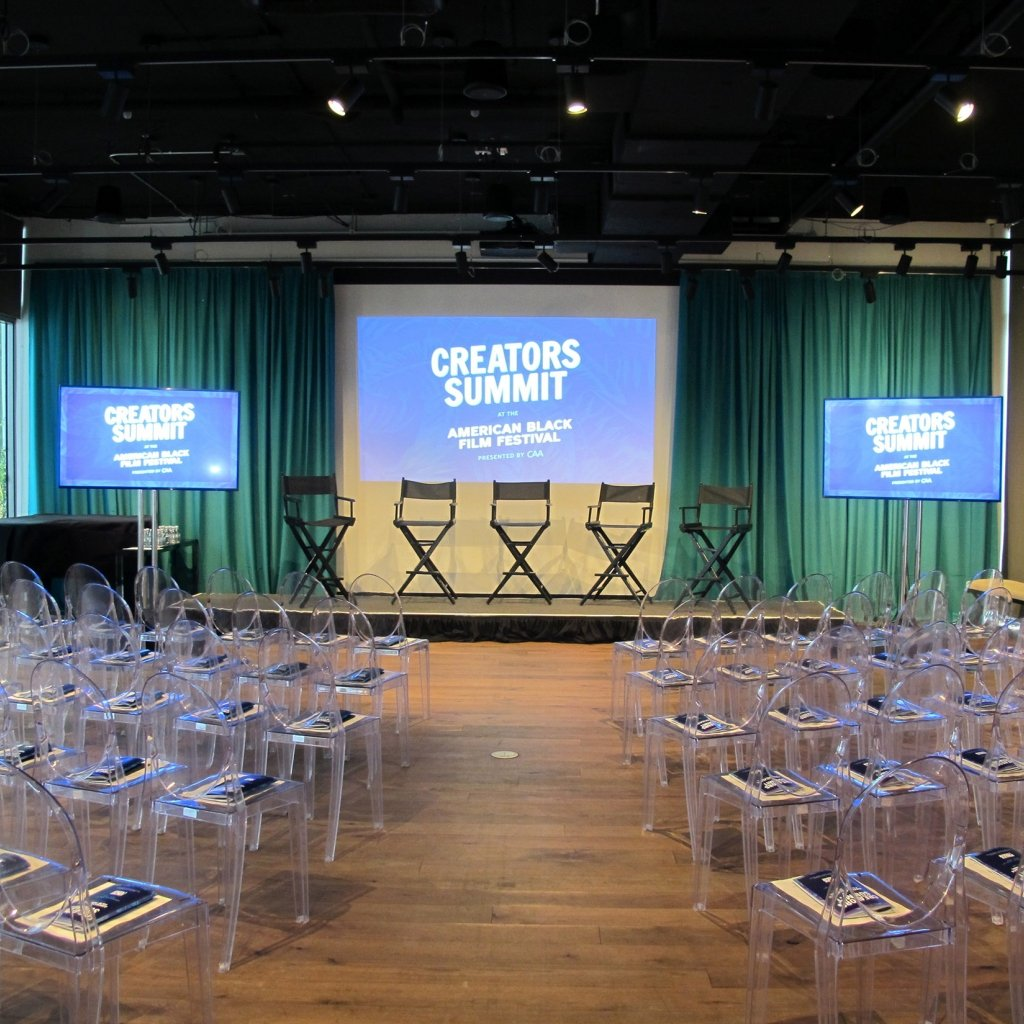 Seating at the Creators Summit for the American Black Film Festival at The Betsy