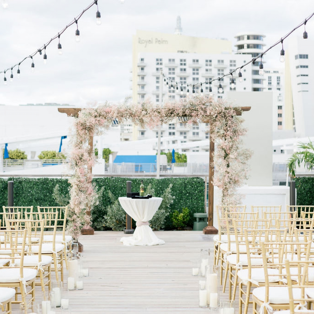 south beach rooftop wedding