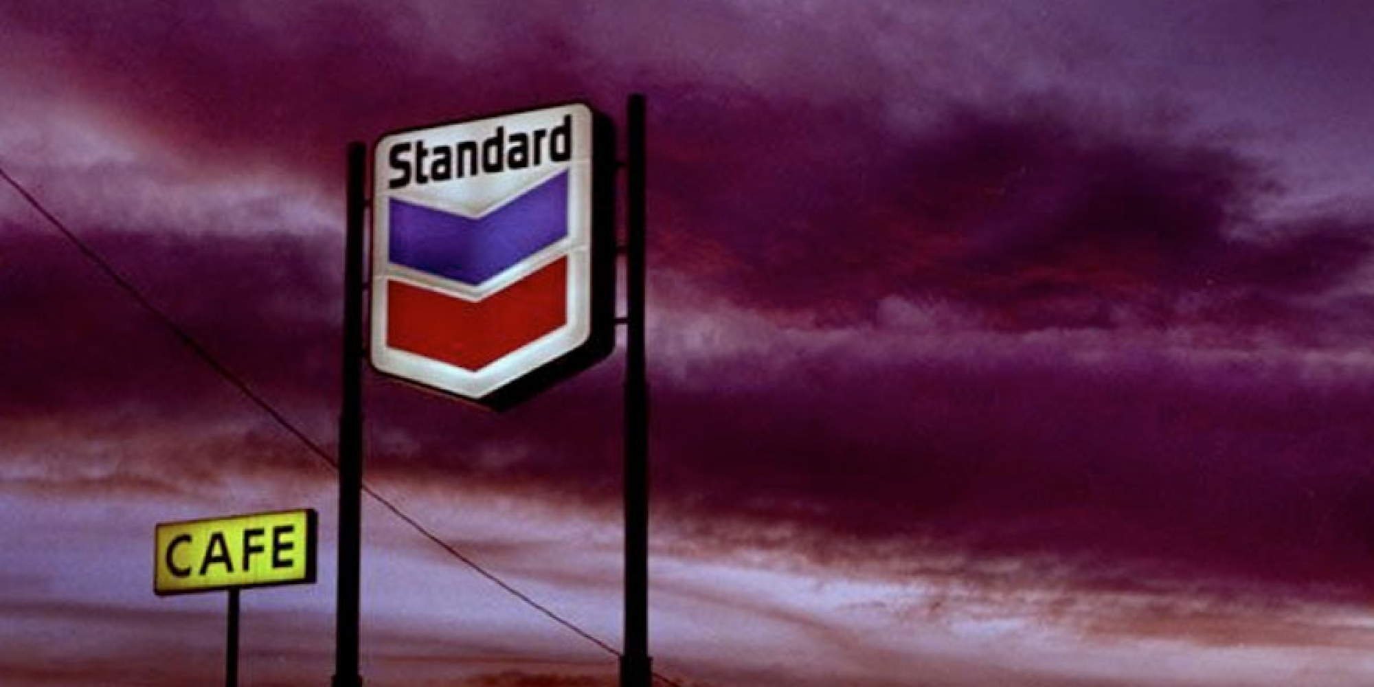 highway gas station sign